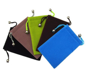 Soft velvet drawstring pouches for gifts