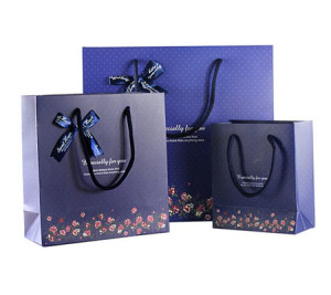 Carries gift bags with twristed handles