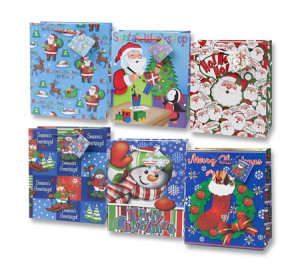 Custom Medium Assorted Christmas Gift Bag