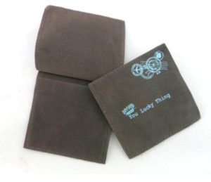 Suede Velvet Envelope with Hot-Stamping